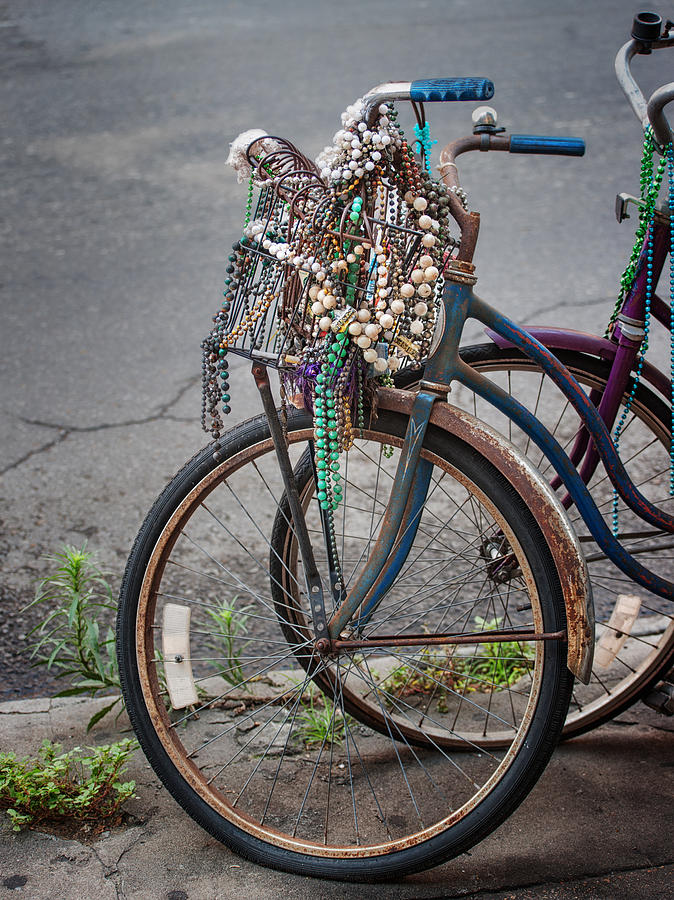 Mardi Gras Bicycle Photograph  - Mardi Gras Bicycle Fine Art Print