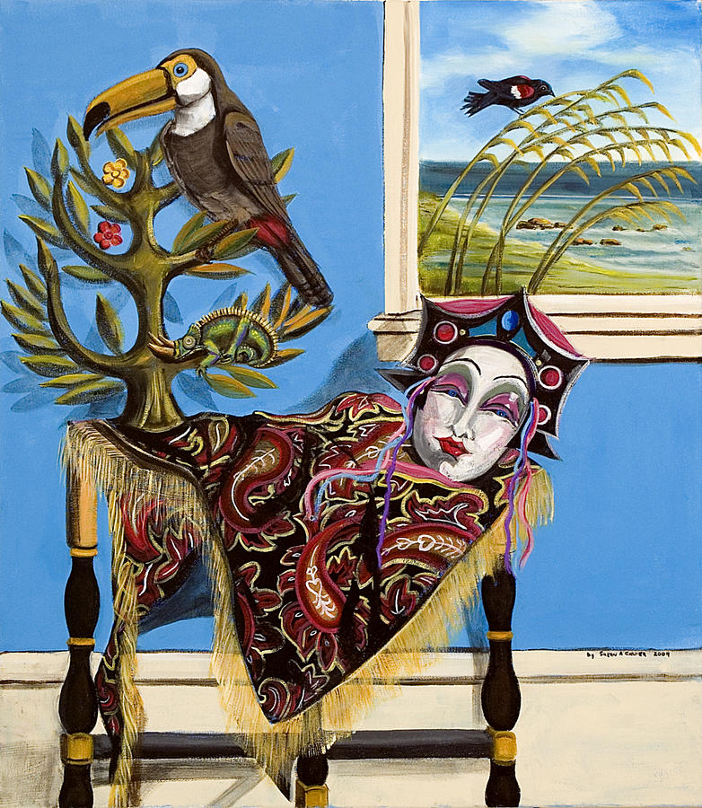 Susan Culver Original Art Prints Painting - Mardi Gras In The Living Room by Susan Culver