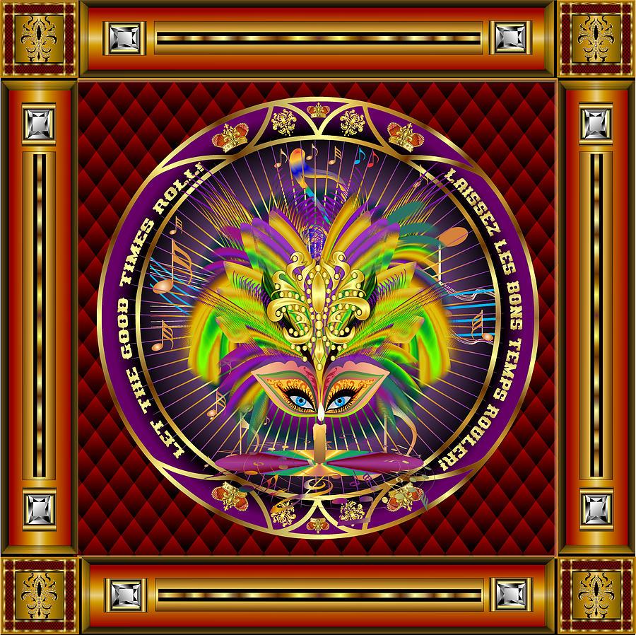 Mardi Gras Queen Style-1 Digital Art