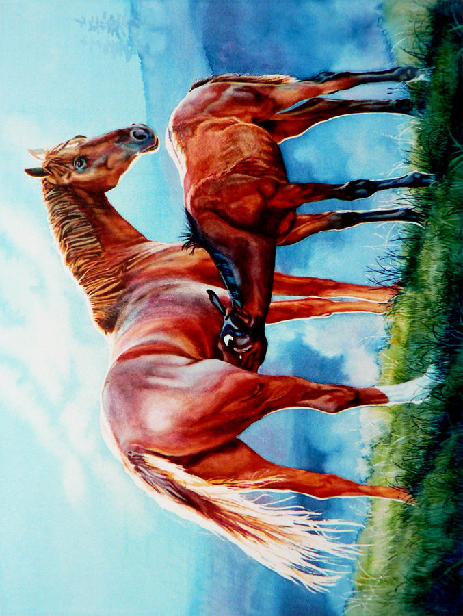 Mare And Foal Phone Case Painting