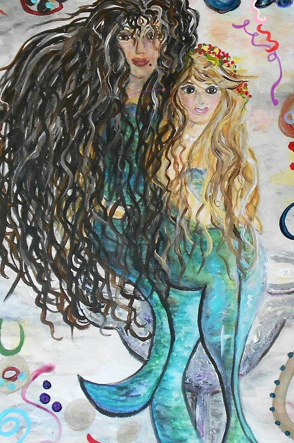 Margarita Mermaids Painting  - Margarita Mermaids Fine Art Print