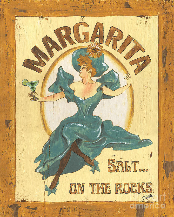 Margarita Salt On The Rocks Painting  - Margarita Salt On The Rocks Fine Art Print