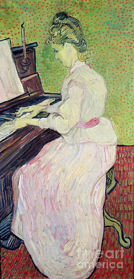 Daughter Of Paul Gachet Painting - Marguerite Gachet At The Piano by Vincent Van Gogh
