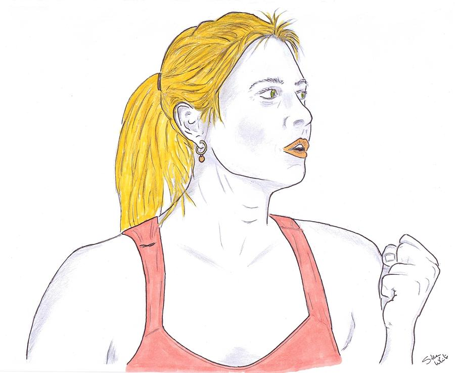 Maria Sharapova Drawing  - Maria Sharapova Fine Art Print