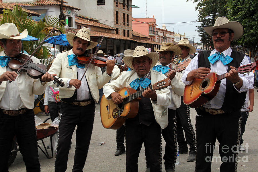 Mariachis At The Fiesta De San Jose Photograph  - Mariachis At The Fiesta De San Jose Fine Art Print