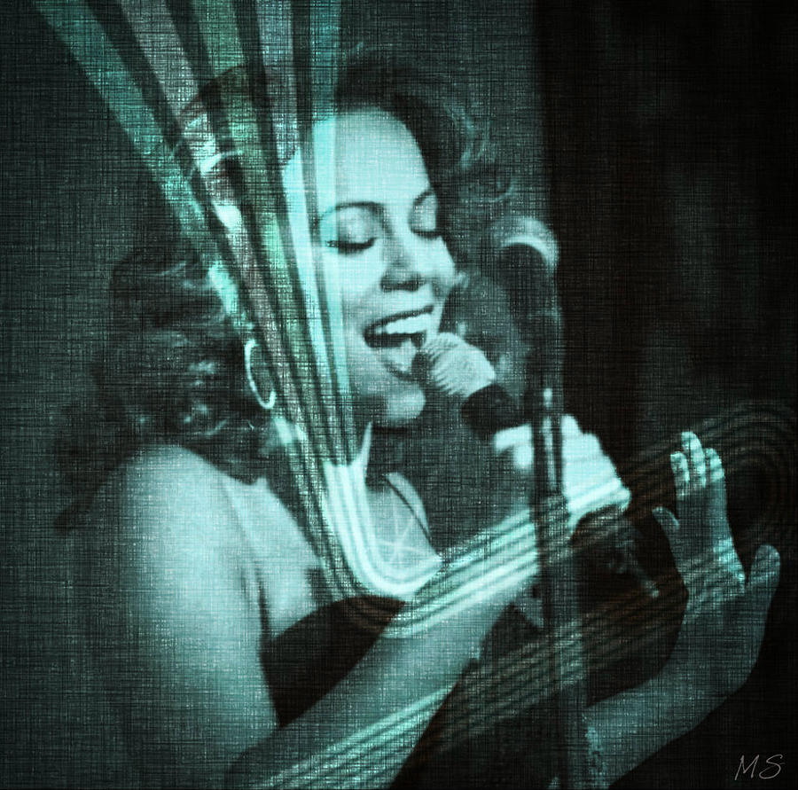 Mariah Carey Digital Art - Mariah Carey - Beautiful Alchemy by Absinthe Art By Michelle LeAnn Scott