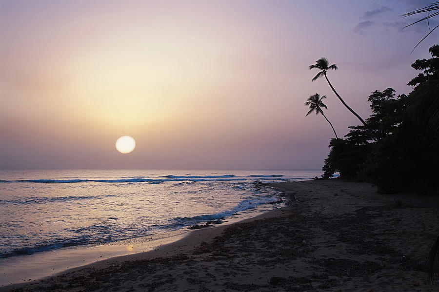 Beach Photograph - Marias Beach Sunset Rincon Puerto Rico by George Oze