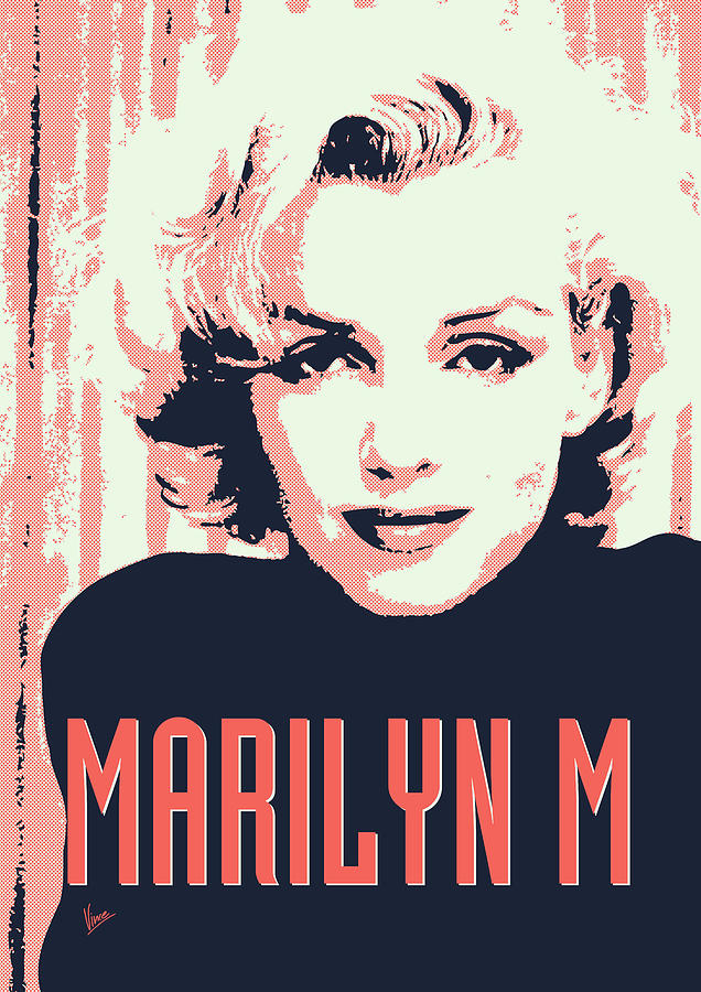 Marilyn M Digital Art  - Marilyn M Fine Art Print