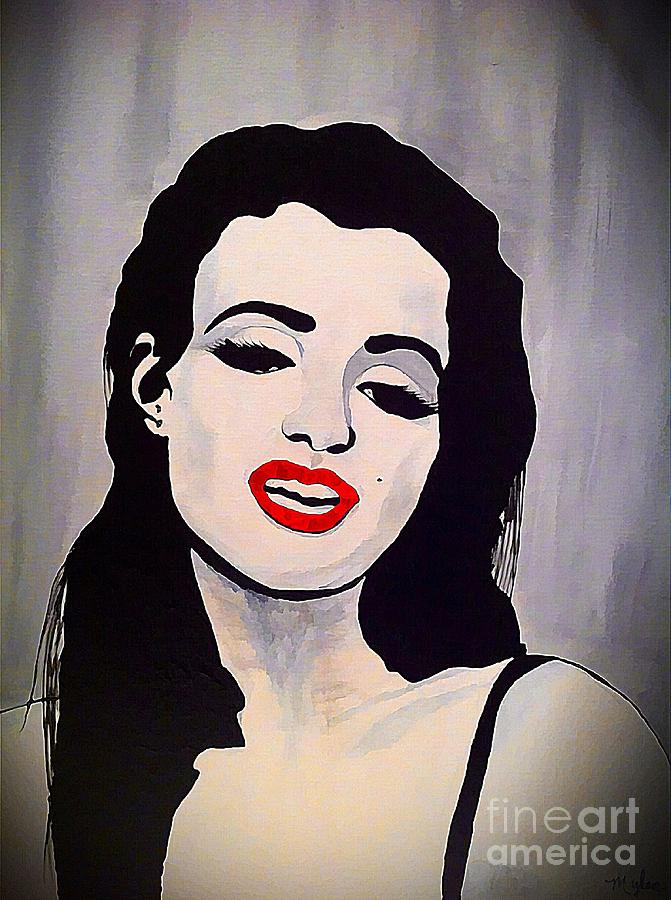 Marilyn Monroe Aka Norma Jean Artistic Impression Painting