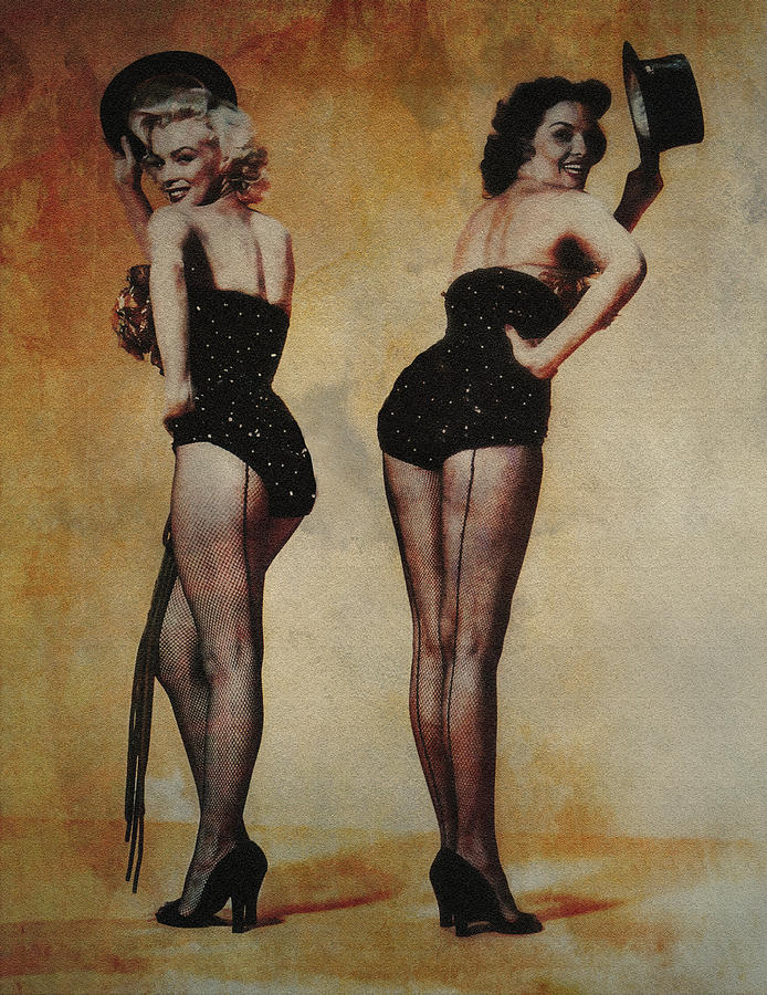 Marilyn Monroe And Jane Russell Photograph  - Marilyn Monroe And Jane Russell Fine Art Print