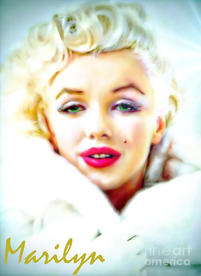 Marilyn Monroe Art Painting - Marilyn Monroe by Barbara Chichester