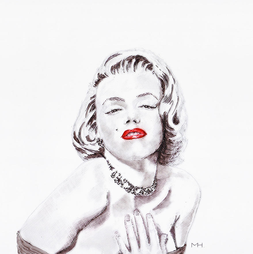 Marilyn Monroe Drawing  - Marilyn Monroe Fine Art Print
