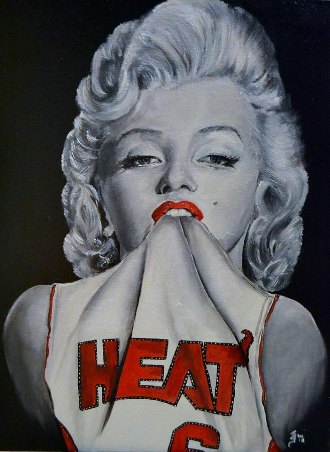 Marilyn Monroe Miami Heat Painting