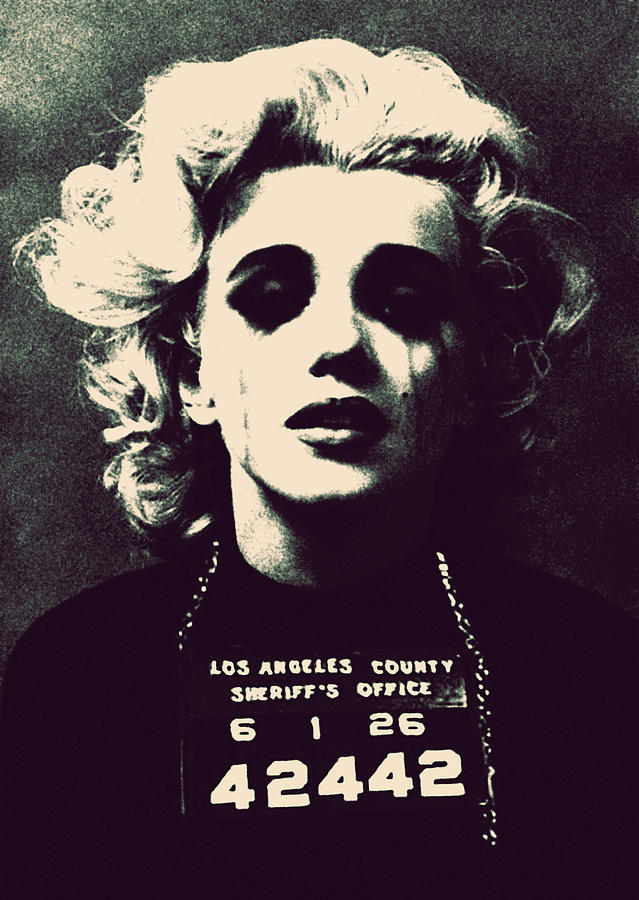 Marilyn Monroe Mug Shot Photograph