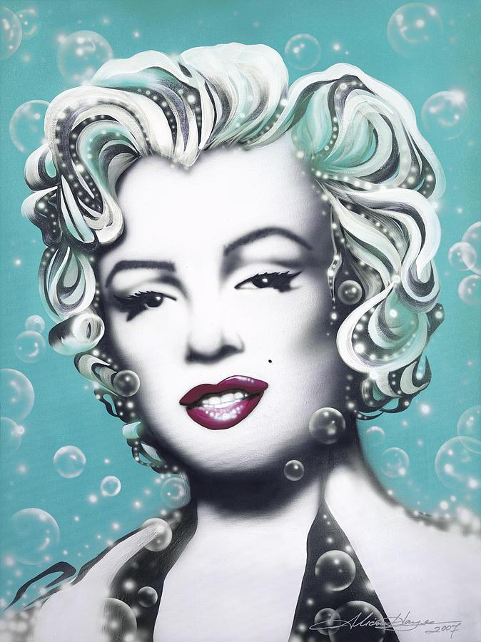 Marilyn Monroe Turquoise Painting