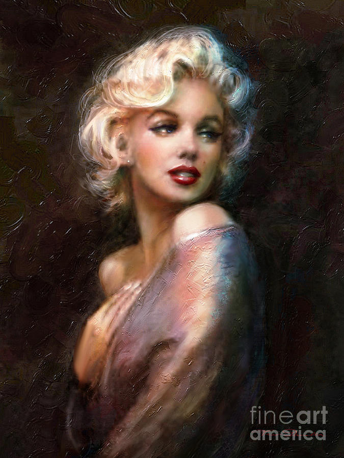 Marilyn Romantic Ww 1 Painting  - Marilyn Romantic Ww 1 Fine Art Print