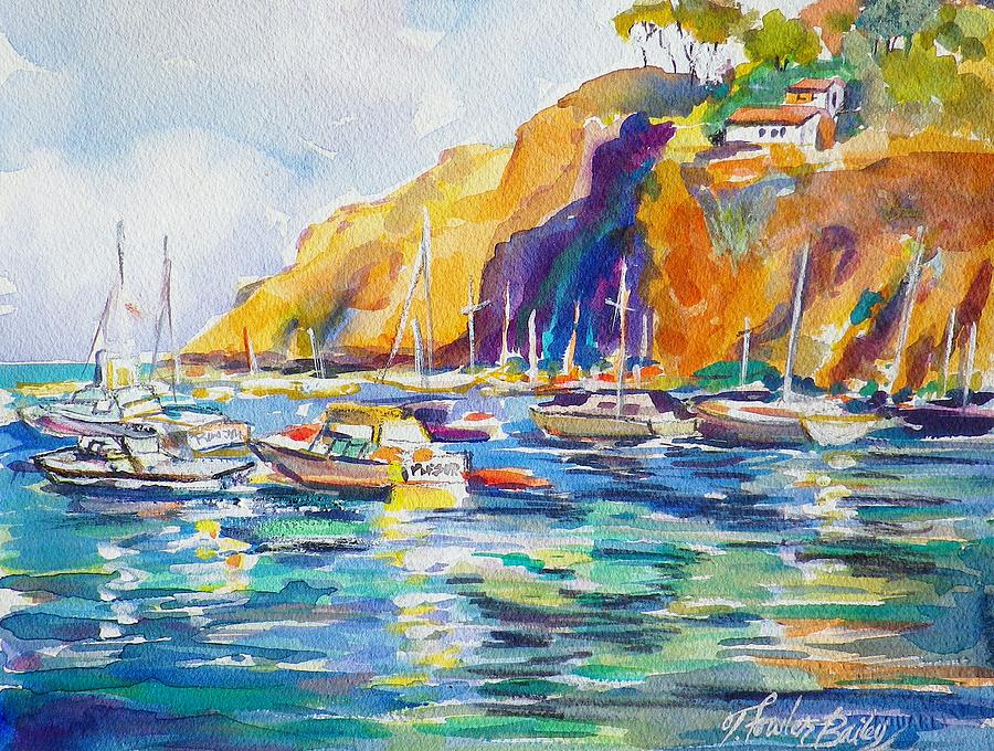 Marina At Catalina Painting