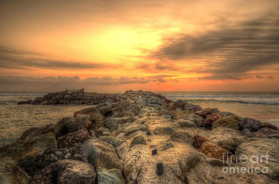 Marina Park Beach Sunset Photograph