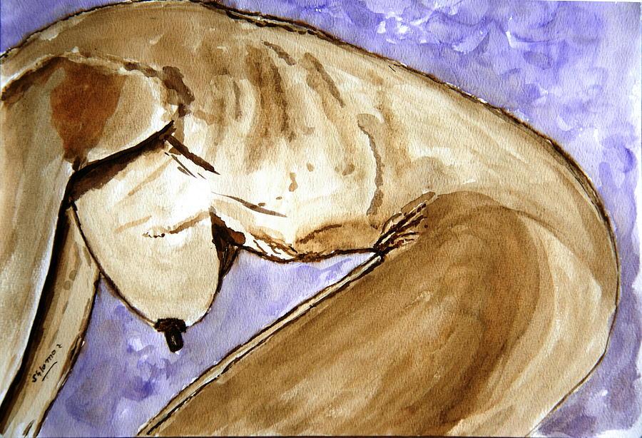 Nude Framed Prints Painting - Marina. by Shlomo Zangilevitch