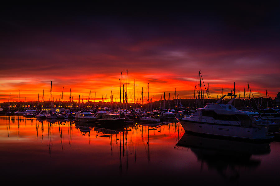 Chatham Photograph - Marina Sunset by Dawn OConnor
