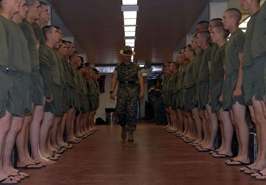Marines Photograph - Marine Basic Training by Mountain Dreams