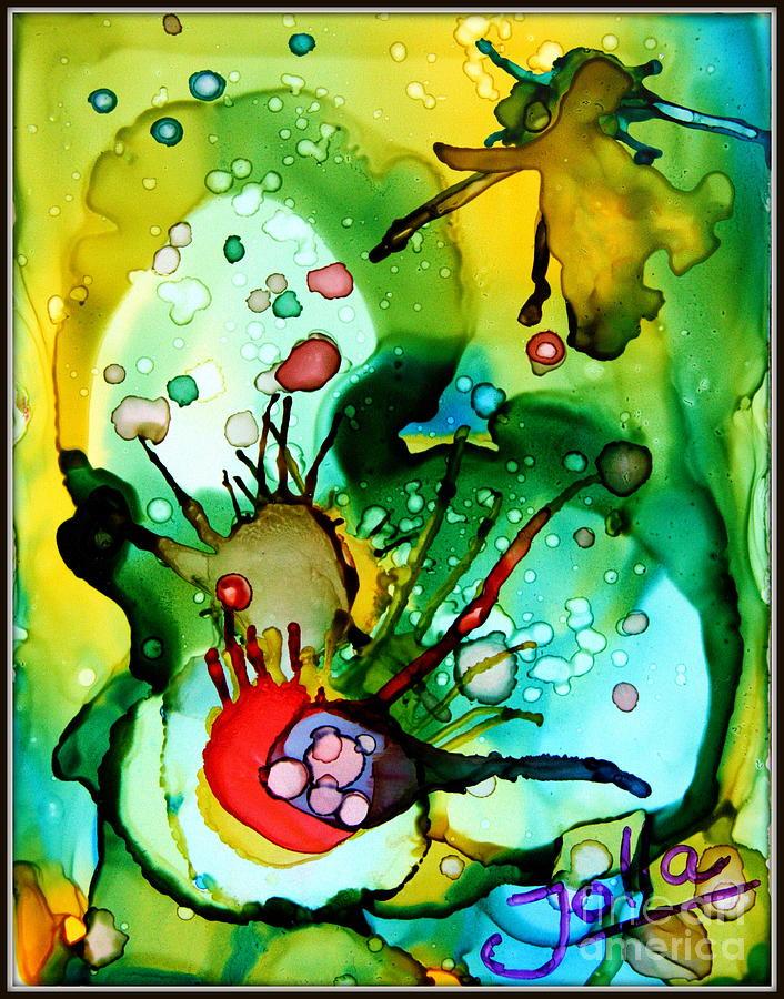 Marine Life Painting - Marine Habitats by Jolanta Anna Karolska