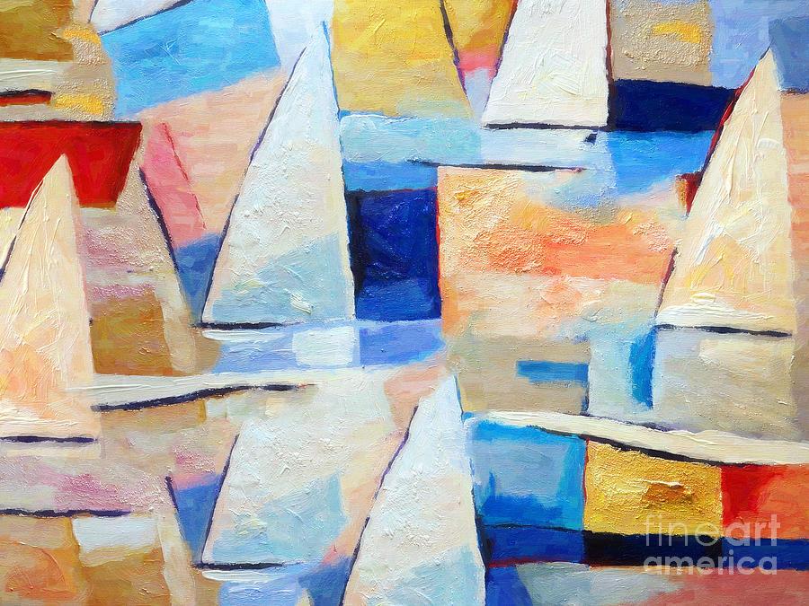 Maritime Painting - Maritime Regatta by Lutz Baar