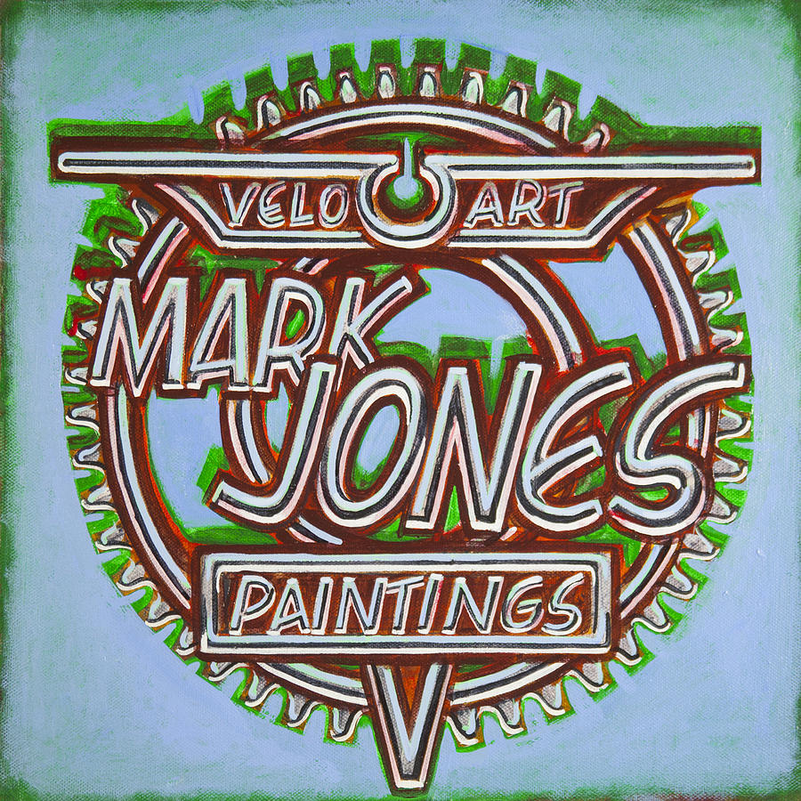 Mark Jones Velo Art Painting Blue Painting