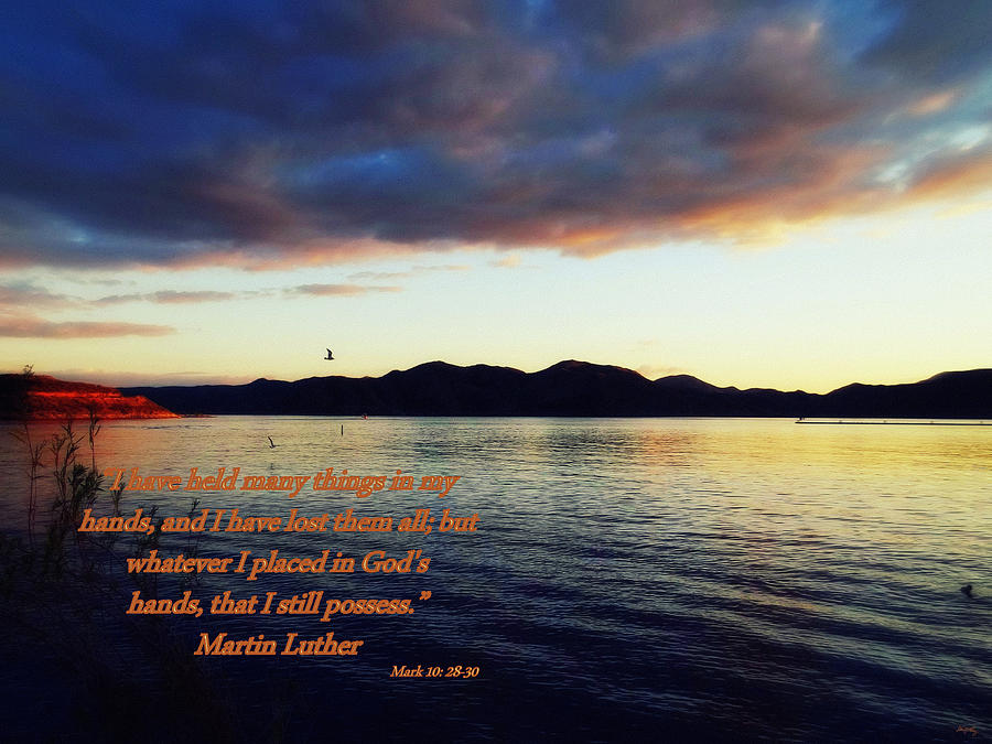 Inspirational Christian Sayings Photograph - Mark Ten 28 Through 30 by Glenn McCarthy Art and Photography