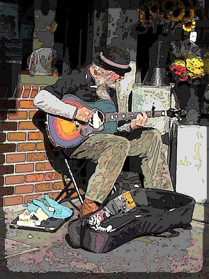 Market Busker 5 Digital Art