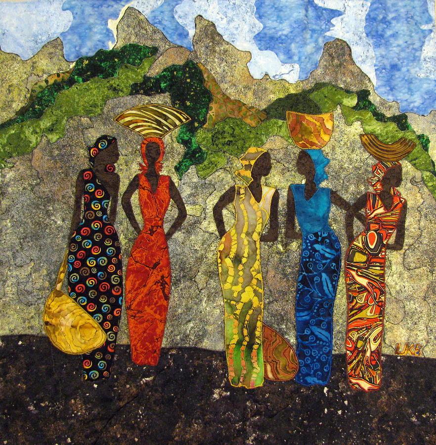 Women Tapestries - Textiles Tapestry - Textile - Market Day #2 by Lynda K Boardman