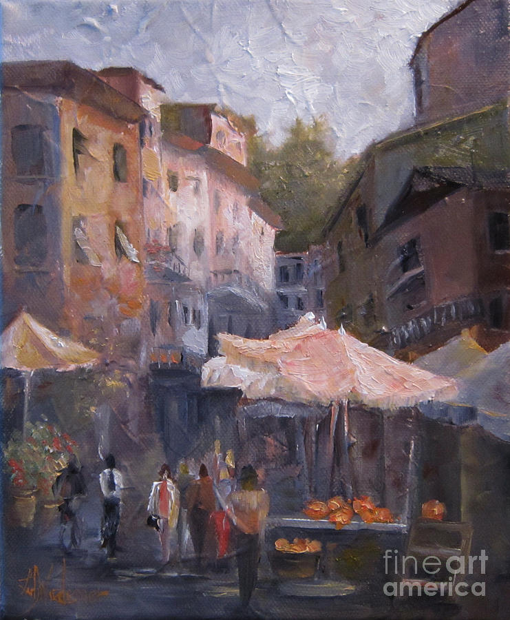 Market Day Painting