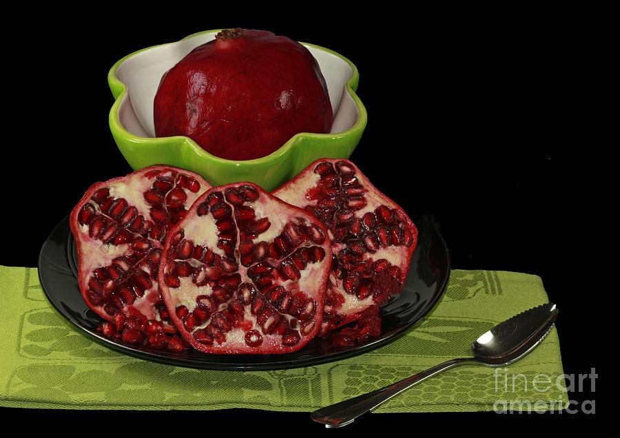 Market Fresh Pomegranate Fruit Photograph