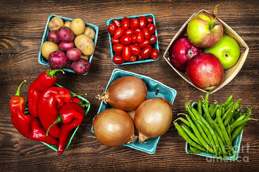 Market Fruits And Vegetables Photograph