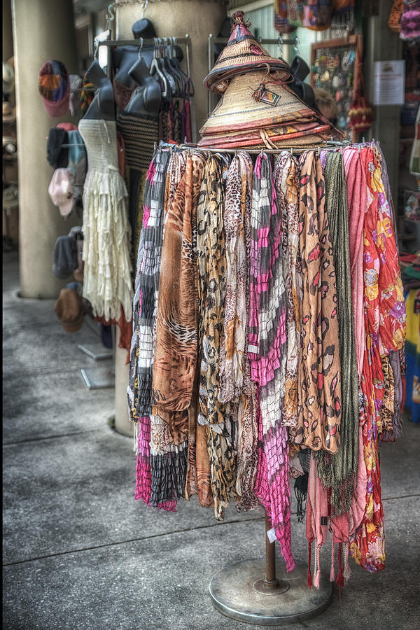 Market Scarves Photograph