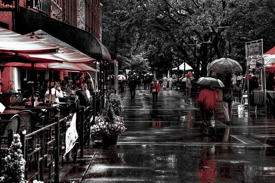 Tennessee Photograph - Market Square Shoppers - Knoxville Tennessee by David Patterson