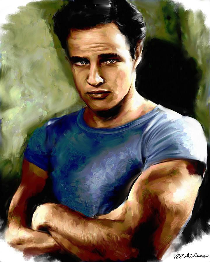 Marlon Brando Painting
