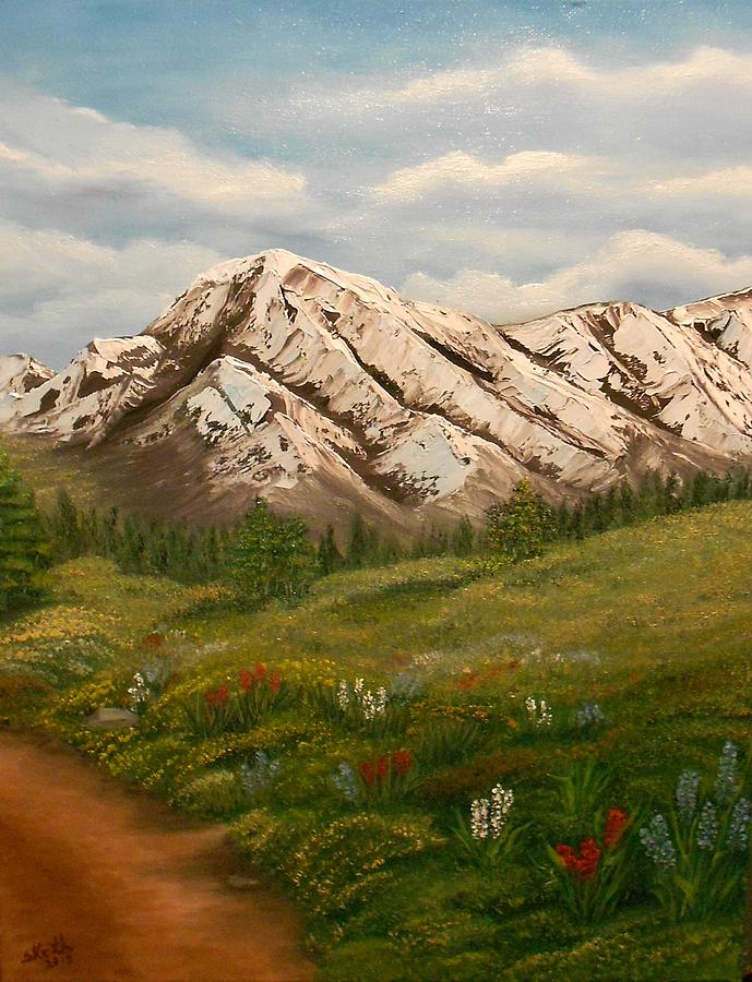 Landscapes Painting - Maroon Trail Splendor by Sheri Keith