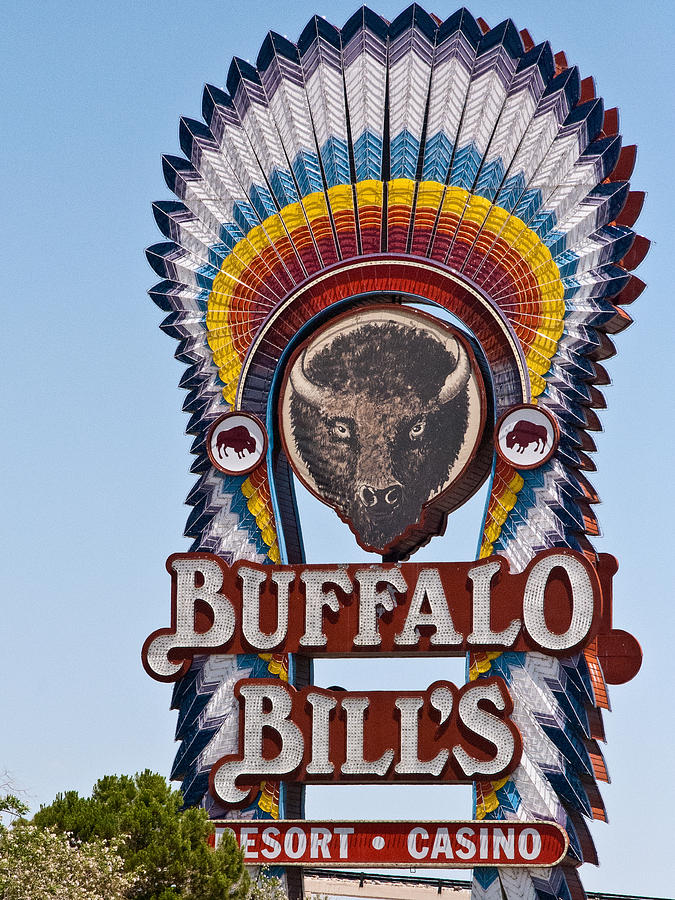 Marquee Buffalo Bills Resort Casino Primm Nevada Photograph  - Marquee Buffalo Bills Resort Casino Primm Nevada Fine Art Print
