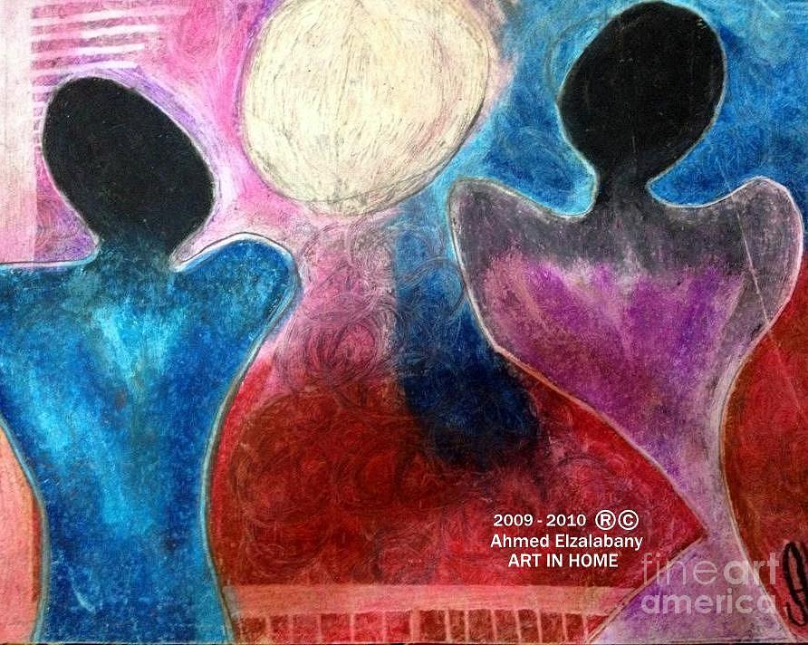 Marriage Makes A Man And You Look To The Future Pastel  - Marriage Makes A Man And You Look To The Future Fine Art Print