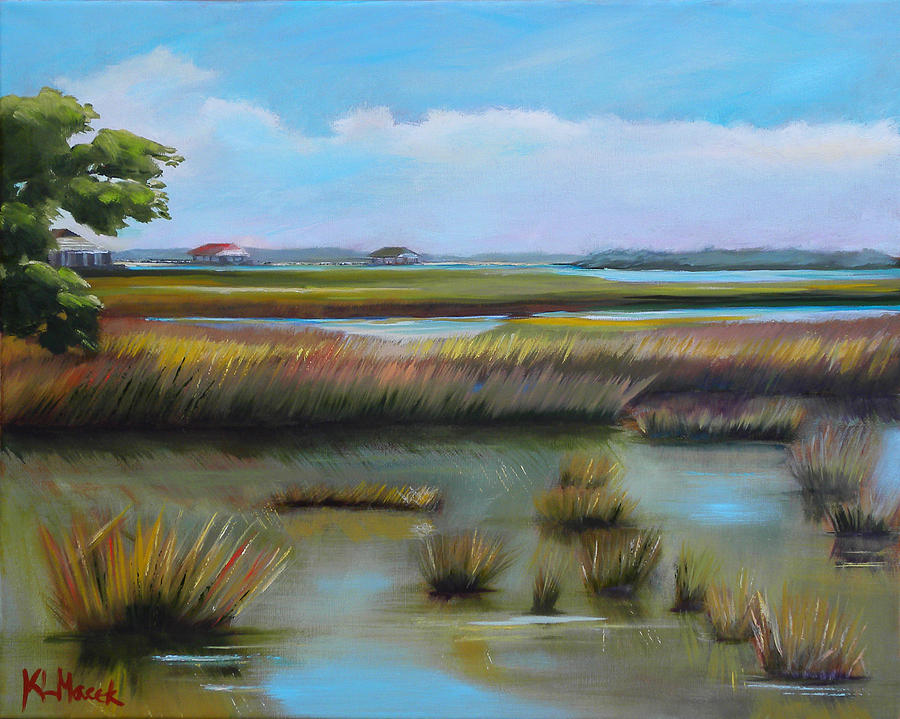 Marsh At Yellow Bluff Painting  - Marsh At Yellow Bluff Fine Art Print