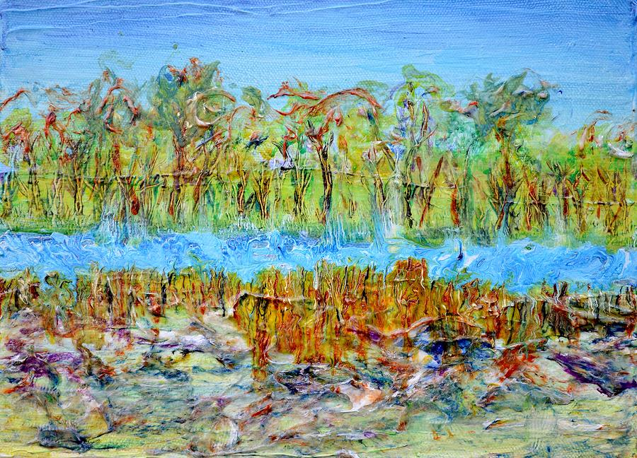 Marsh Inlet Painting  - Marsh Inlet Fine Art Print