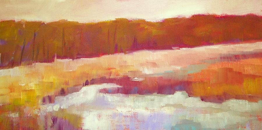 Marsh Moment Painting  - Marsh Moment Fine Art Print