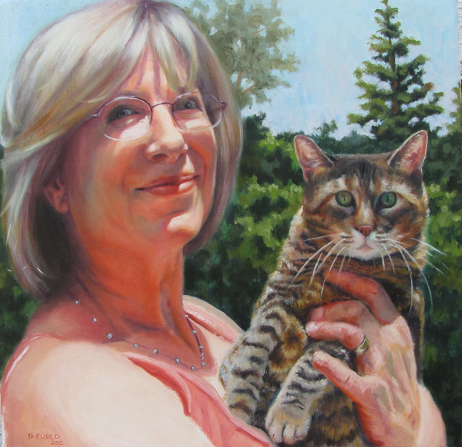 Portrait Painting - Marsha And Annie by Dan Fusco