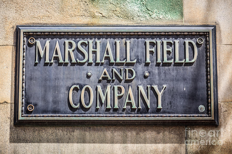 Marshall Field And Company Sign In Chicago Photograph