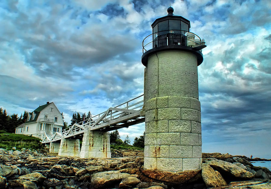 Lighthouse Photograph - Marshall Point Light From The Rocks by Carolyn Fletcher