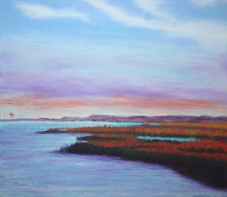 Marshes At Sunset Pastel  - Marshes At Sunset Fine Art Print