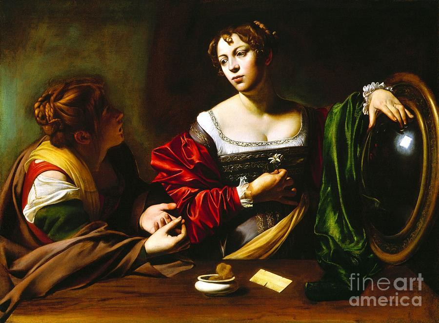 Martha And Mary Magdalene Painting