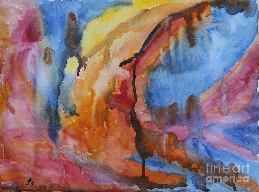 Martian Landscape Painting