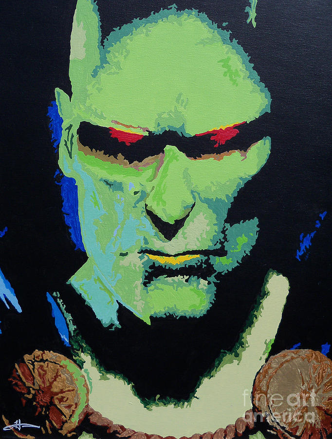 Martian Manhunter - A Close Encounter Painting  - Martian Manhunter - A Close Encounter Fine Art Print